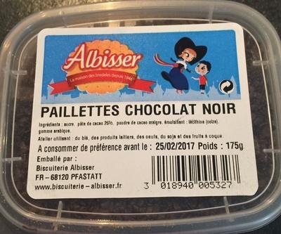 Paillettes chocolat noir - Product - fr