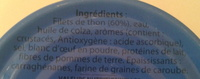 Rillettes de Thon - Ingrediënten - fr