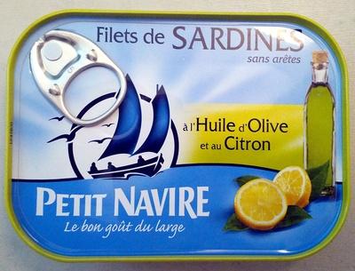filets de sardines l 39 huile d 39 olive et au citron. Black Bedroom Furniture Sets. Home Design Ideas
