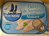 Filets de Sardines (Nature) - Produit