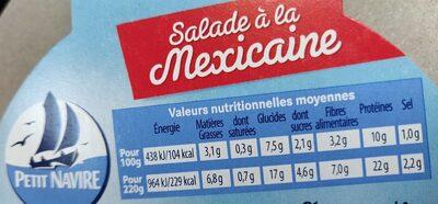 Salade à la mexicaine - Nutrition facts - fr