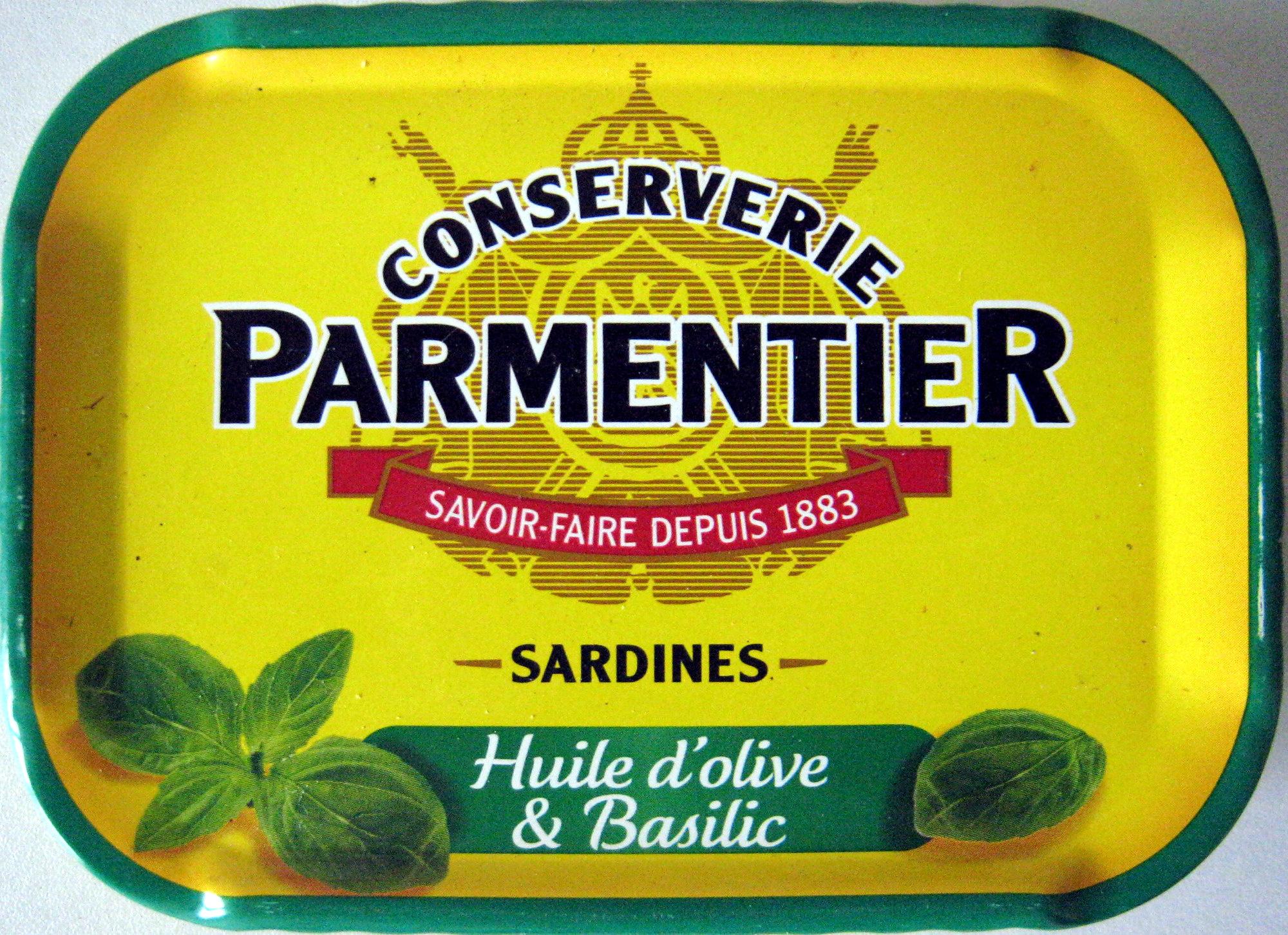 Sardines (Huile d'olive & Basilic) - Product - fr