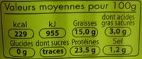Sardines (Huile de Tournesol) - Voedigswaarden