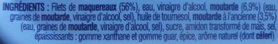 Filets de Maquereaux à la Moutarde à l'Ancienne - 原材料 - fr