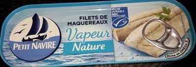 Filets de maquereaux vapeur nature - Produit