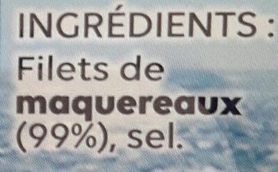 Filets de maquereaux Vapeur Nature - Ingrédients - fr