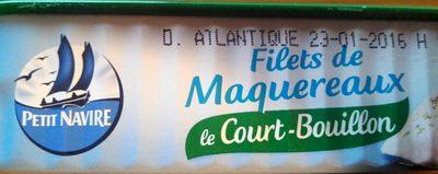 Filets de Maquereaux au court bouillon - Produit - fr