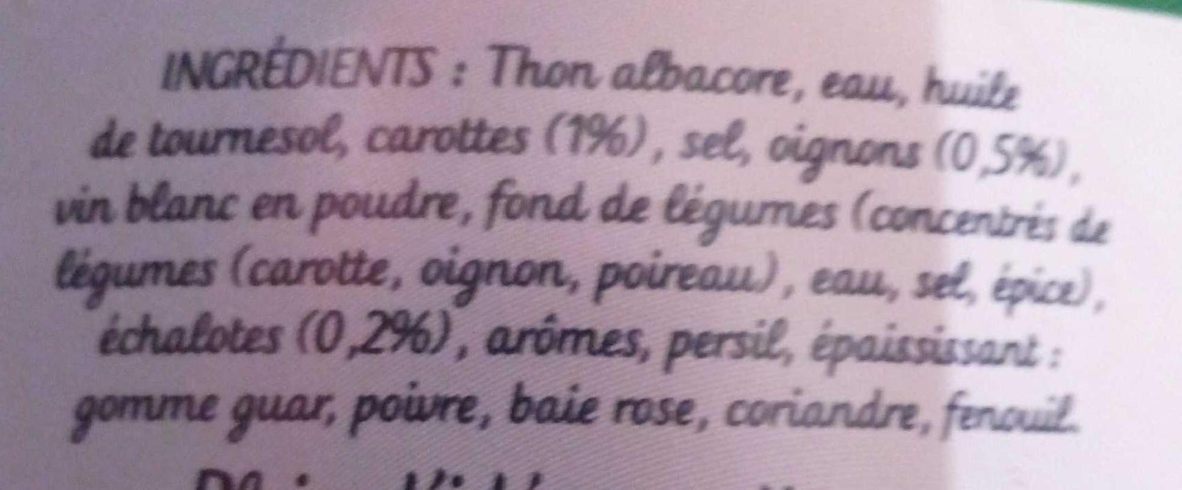 Thon court-Bouillon - Ingredients - fr