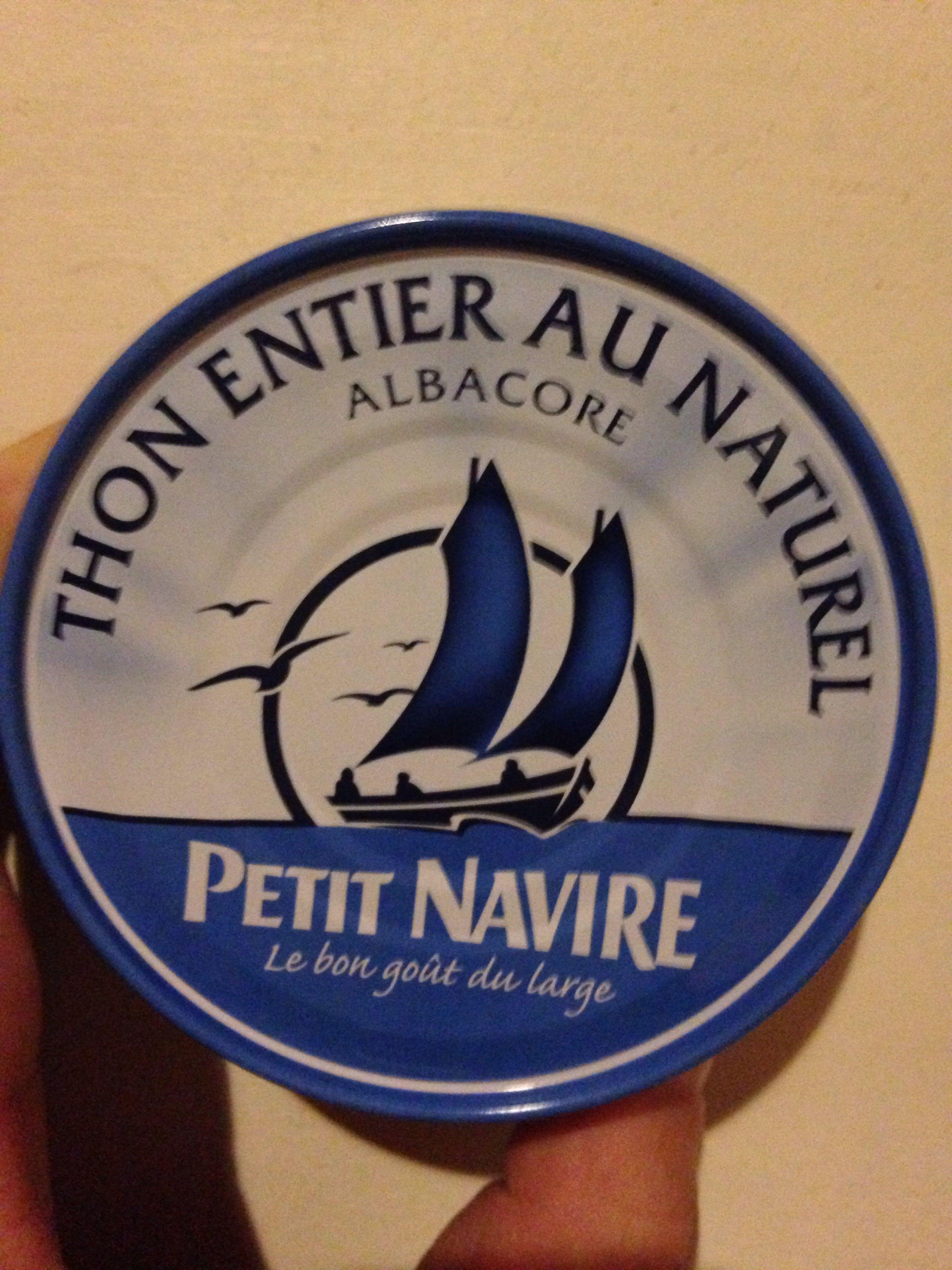 Thon Entier au Naturel Albacore, Petit Navire - 製品 - fr