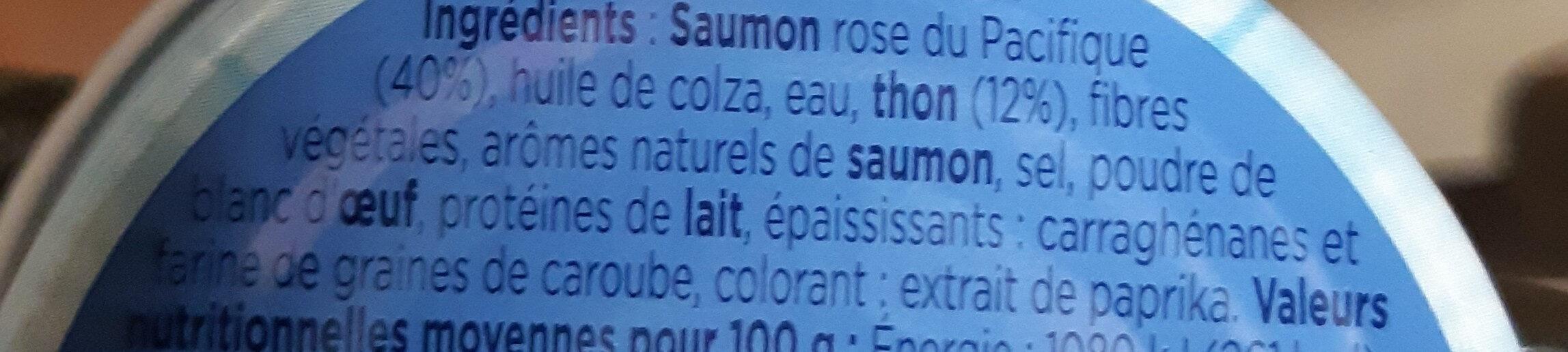 Rillettes de saumon - Inhaltsstoffe