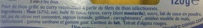 Pavé de Thon grillé au Curry - Ingrédients