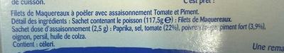 Filets de Maquereaux à Poêler - Ingrédients - fr