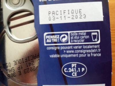 Thon entier au naturel - Istruzioni per il riciclaggio e/o informazioni sull'imballaggio - fr