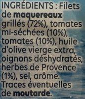 Filets de Maquereaux Grillés Tomates & Herbes de Provence - Ingrediënten