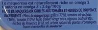 Filets de Maquereaux Grillés Tomates et Herbes de provence - Ingredienti - fr