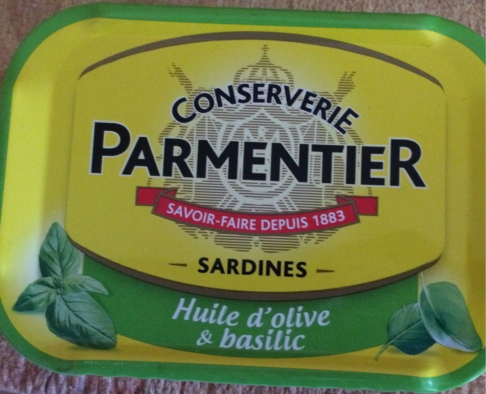 Sardines Huile d'olive et basilic - Produit