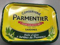 Sardines à l'huile d'olive et herbes de Provence PARMENTIER - Produit