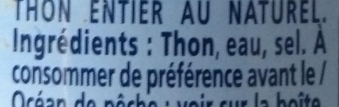 Albacore - Thon entier au naturel - Ingredienti - fr