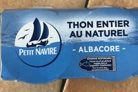 Thon antier au naturel - Produit