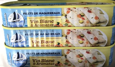 Petit Navire filets de maquereaux au vin blanc - Ingrédients - fr