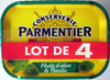 Sardines (Huile d'olive & Basilic) Lot de 4 - Produit