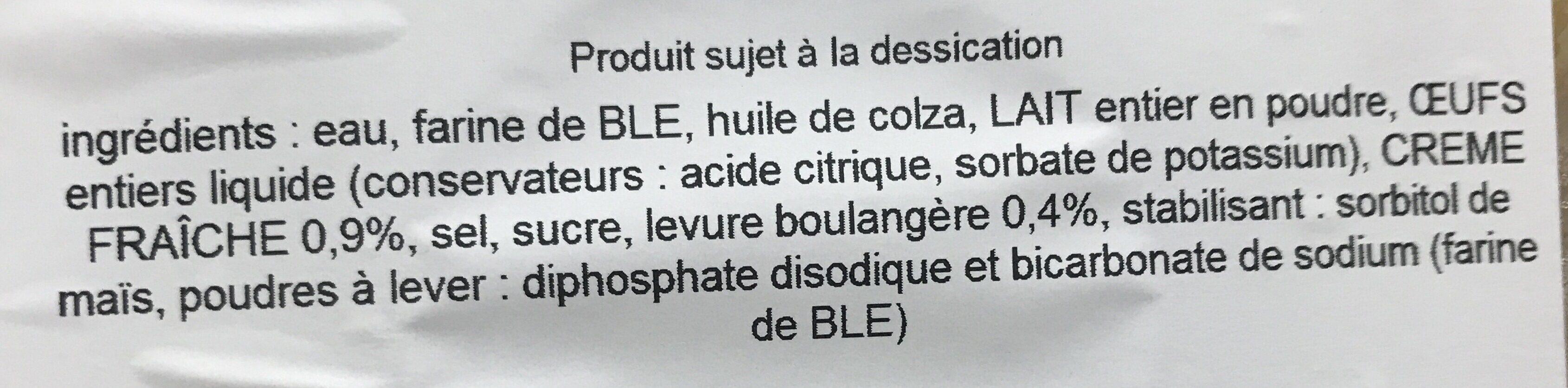 Mini blinis à la crème fraîche - Ingrediënten - fr