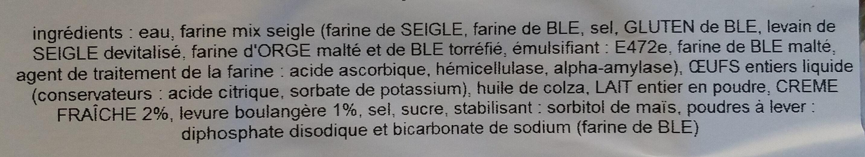 Mini blinis au seigle - Ingrédients - fr