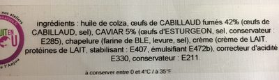 Tarama au caviar - Ingrédients - fr