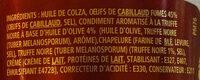 Tarama à la truffe noire 1% - Ingredients