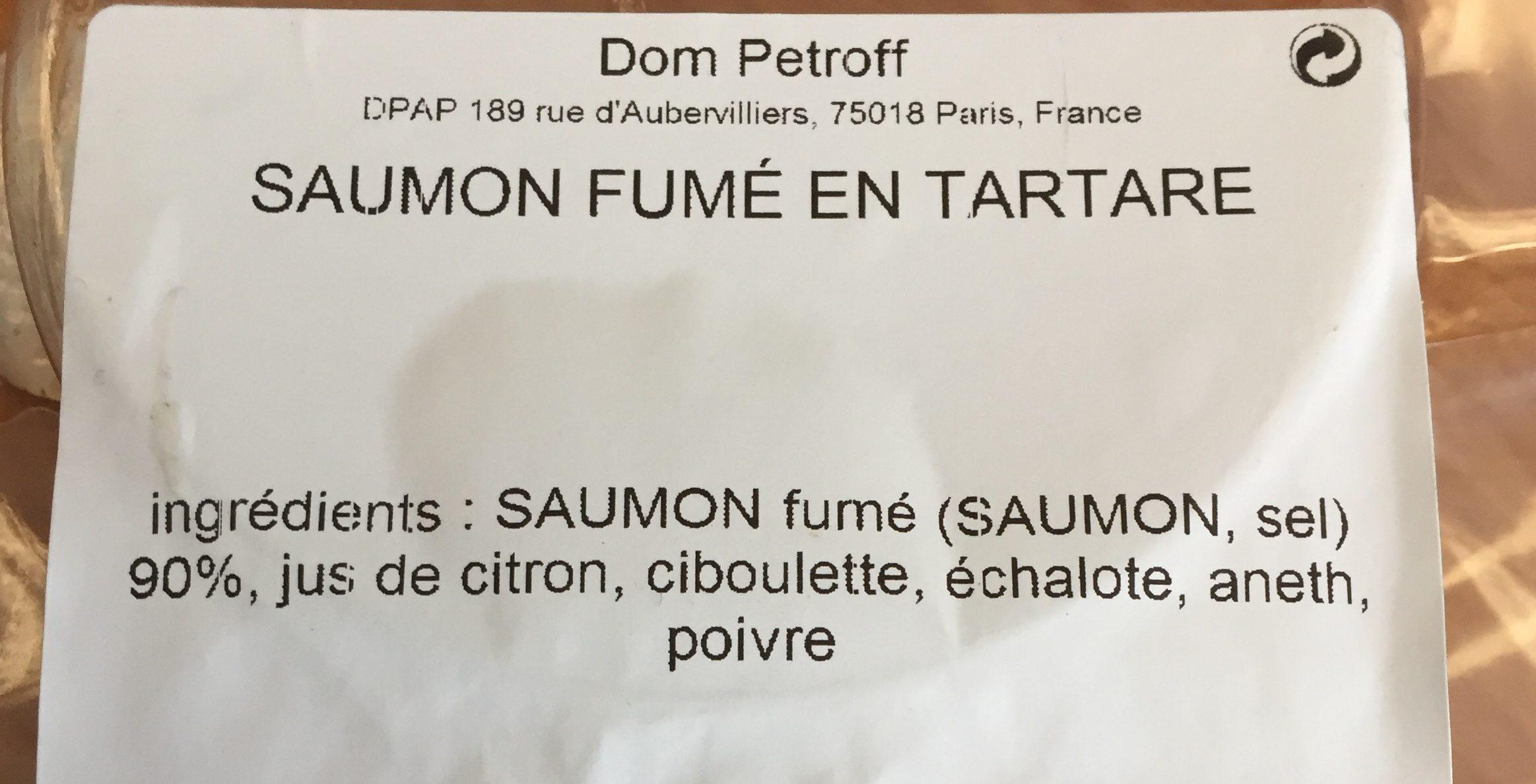 Saumon fumé en tartare - Ingredients - fr