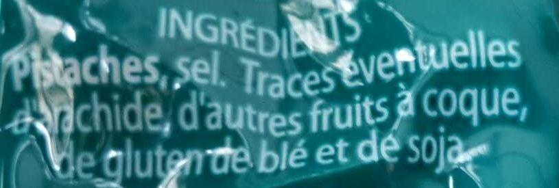 Pistaches Grillées à Sec - Ingredients