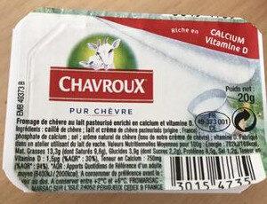 Pur chèvre - Ingrédients - fr
