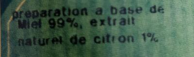 Aromiel Citron - Ingrédients