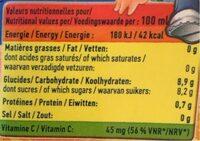 Brique Rea - Voedingswaarden - fr