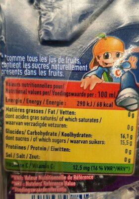 Jus De Raisin, Pack De 6 Fois 20 Centilitres, Marque Rea - Informazioni nutrizionali - fr