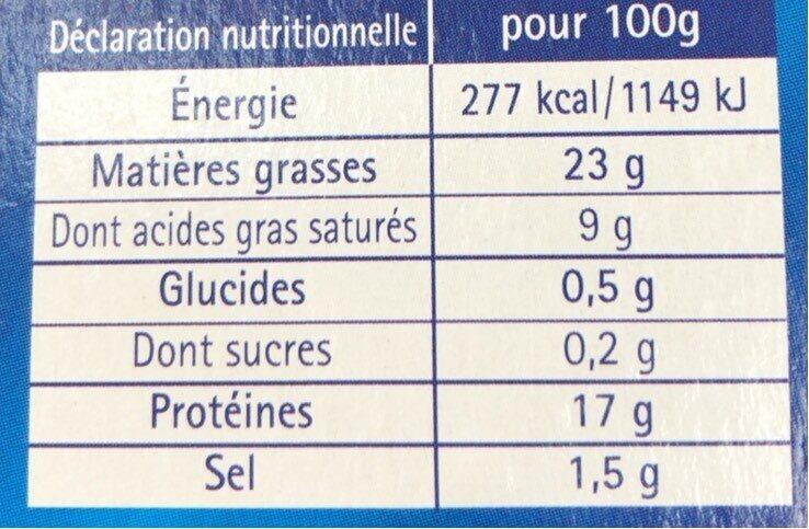 L2 1X5Pate Porc Henaff Os, - Informations nutritionnelles - fr