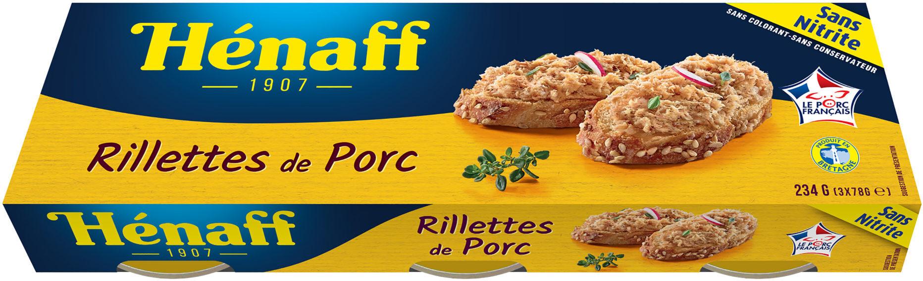 LOT RILLETTES de PORC Hénaff - Produit - fr