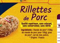 LOT RILLETTES de PORC Hénaff - Ingrédients - fr
