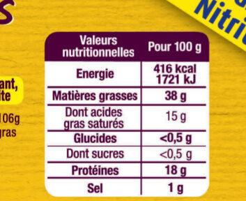 LOT RILLETTES de PORC Hénaff - Informations nutritionnelles - fr