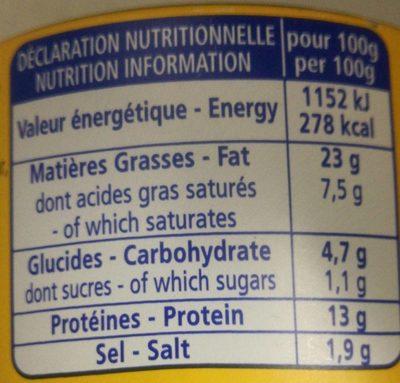 Henaff Chick. l / Meat - Informations nutritionnelles