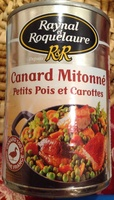 Canard Mitonné Petits Pois et Carottes - Product - fr