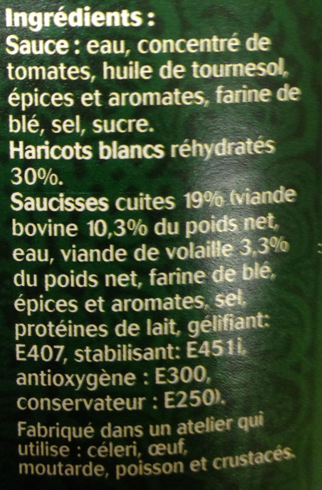 Saucisses aux haricots - Ingrédients - fr