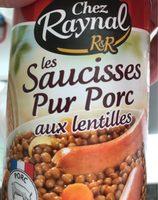 Saucisses Pur Porc aux Lentilles - Product