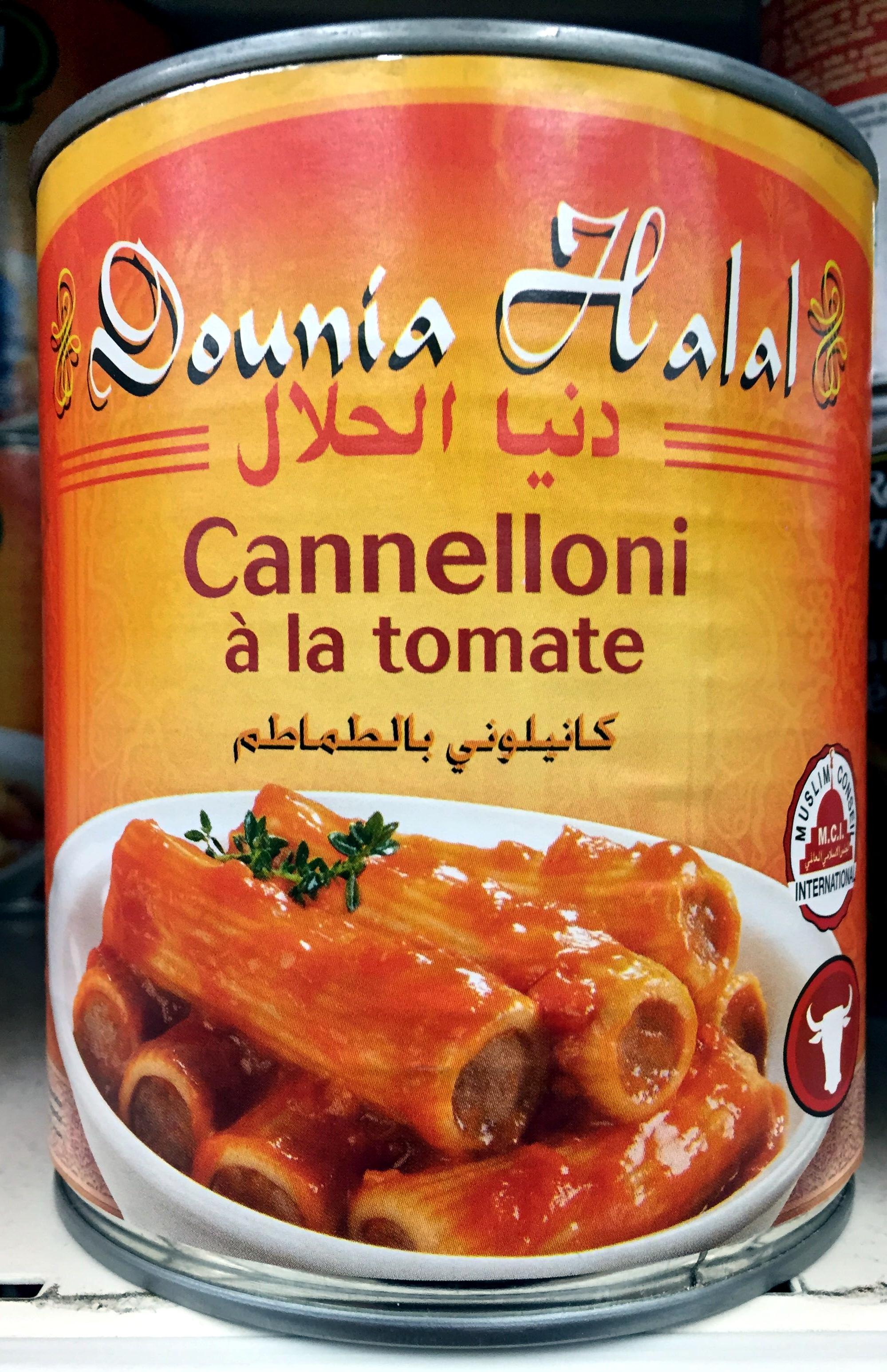 Cannelloni à la tomate - Halal - Produit