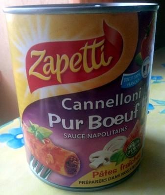 Cannelloni Pur Bœuf (Sauce Napolitaine) - Product - fr