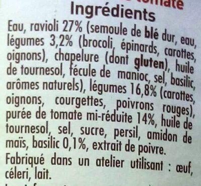 Ravioli 6 légumes recette vegetarienne - Ingrédients - fr