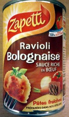 Ravioli Bolognaise (Sauce Riche en Bœuf) - Produit