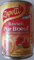 Ravioli Pur Bœuf (Sauce Tomate Cuisinée) - Produit - fr