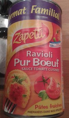 Ravioli Pur Bœuf (Sauce Tomate Cuisinée) Format familial - Produit - fr