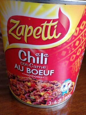 Chili con carne au bœuf - Product - fr